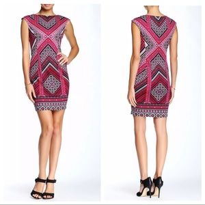 Maggy London Times Pink Sheath Dress Petite 14P